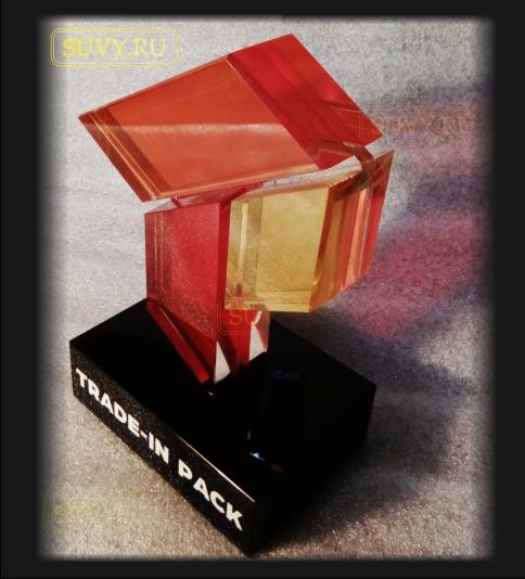 Оригинальный подарок из цветного стекла.
