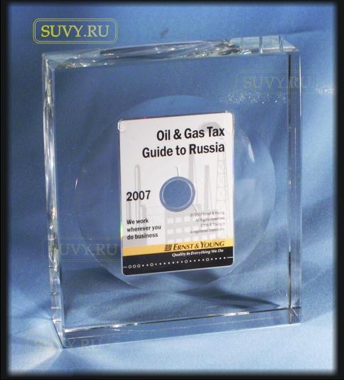 Сувенир с залитым внутрь CD-диском