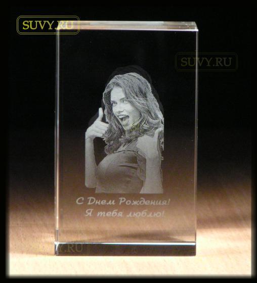 Фото в стекле - отличный подарок на день рождения и 8 марта