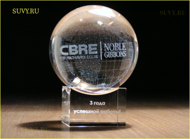 Корпоративный подарок, изготовленный для сотрудников международной компании CBRE